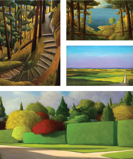Ross Penhall's Vancouver Book with paintings by Canadian Landscape Artist Ross Penhall