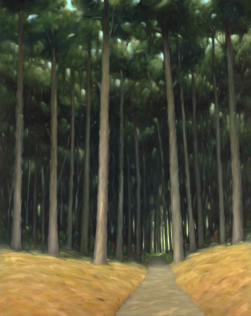 18-35 Bay Area Ridge Trail 60x48 oil on canvas re-revision
