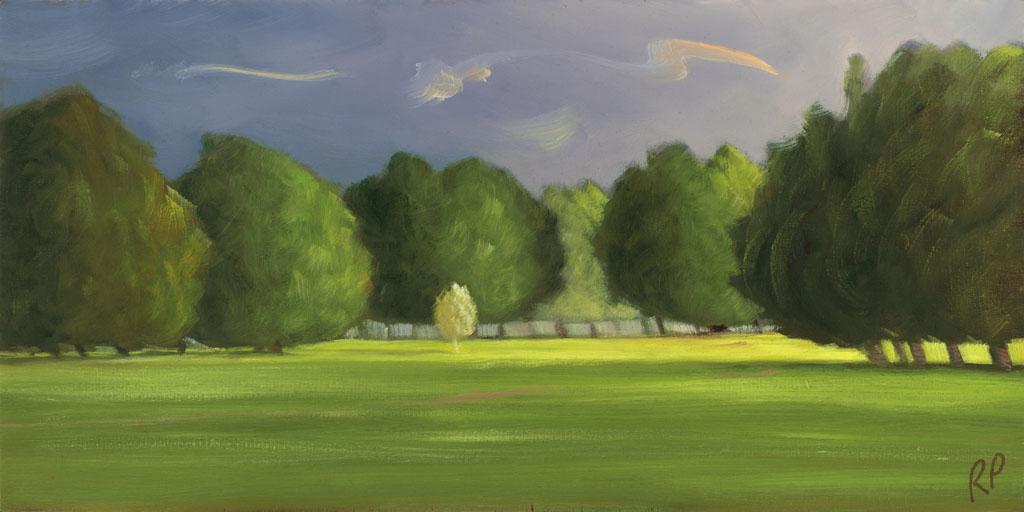study 18-105 Phoenix Park 6x12s painted by Canadian Landscape Artist Ross Penhall