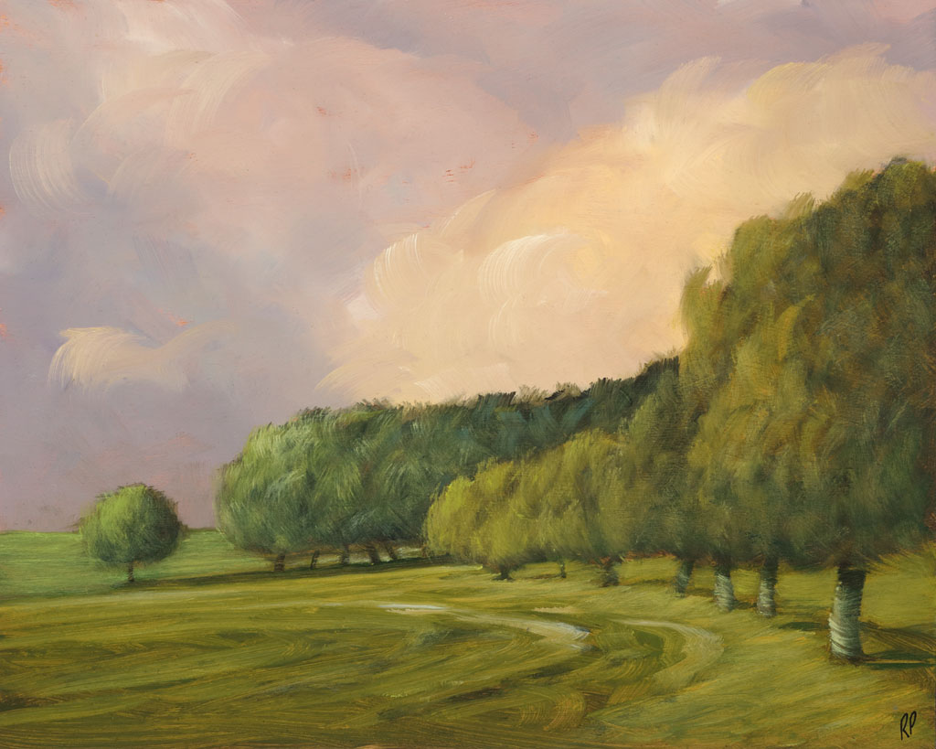 study 18-106 A Friend's Field 8x10s painted by Canadian Landscape Artist Ross Penhall