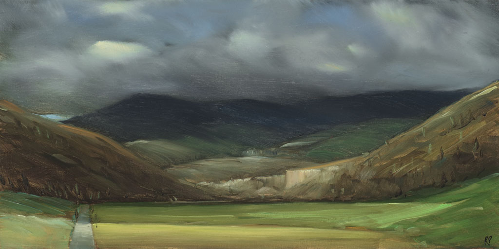 study 18-87 The Interior 6x12s painted by Canadian Landscape Artist Ross Penhall