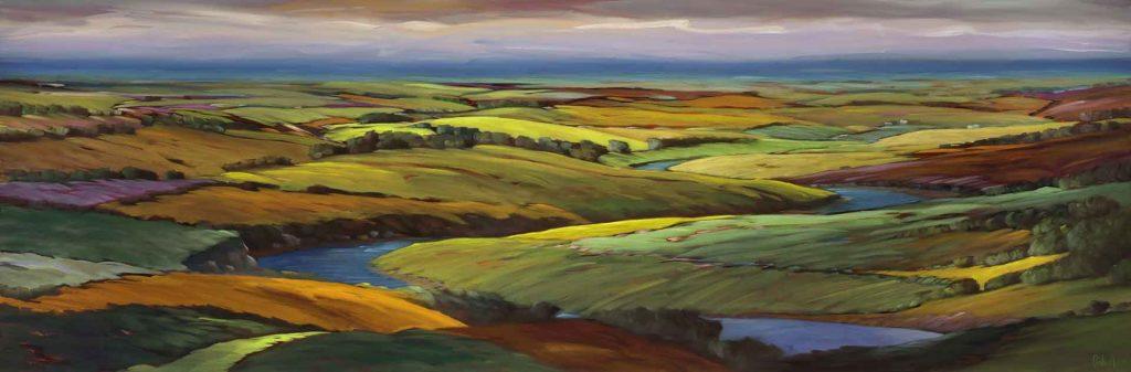 19-21-Gradual-Descent-32x96-oil-on-canvas