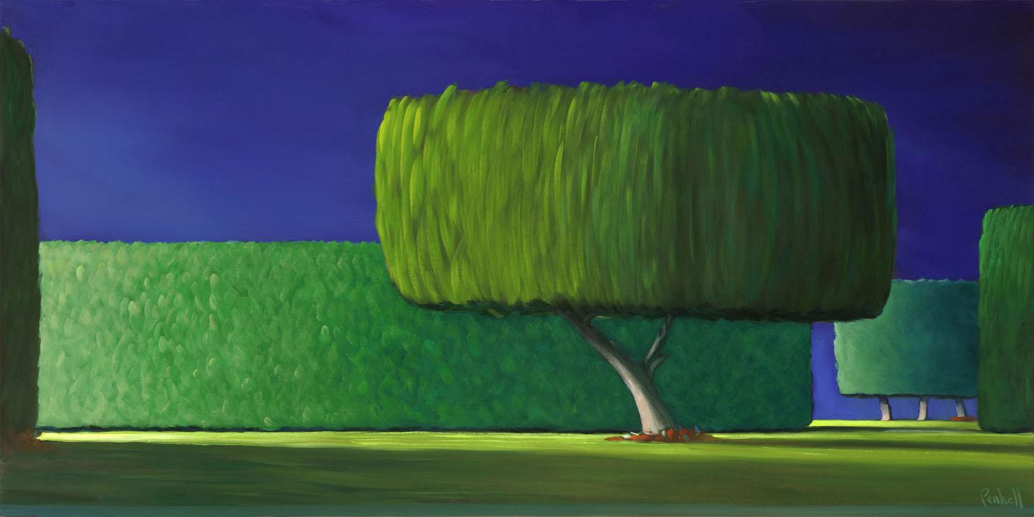 20-17 Ficus Tree 18x40 oil on canvas