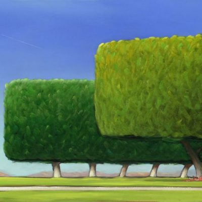 20-19 Ficus Midday 18x40 oil on canvas