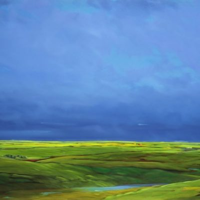 20-30 Blue On Blue 45x65 oil on canvas