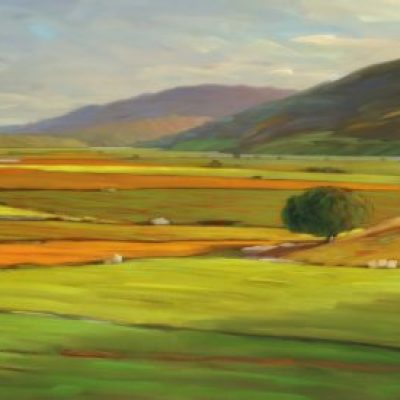20-32 Napa Crossroad 23x84 oil on canvas | SOLD
