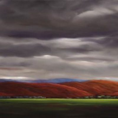 19-26 Red Hills 24x96 oil on canvas