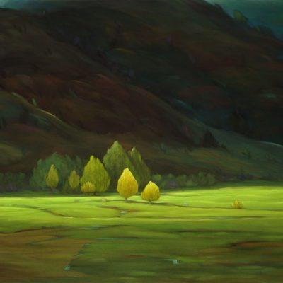 21-15 Overshadow 36x50 oil on canvas